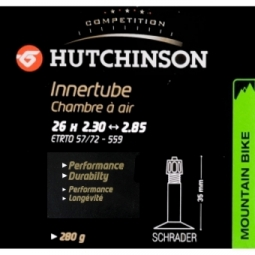 hutchinson chambre a air standard 26 x 2 30 a 2 85 schrader