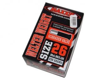 maxxis chambre a air welter weight 26 x 1 9 2 125 valve schrader
