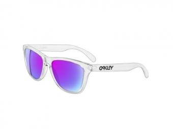 oakley lunettes frogskins transparent violet iridium ref 24 305