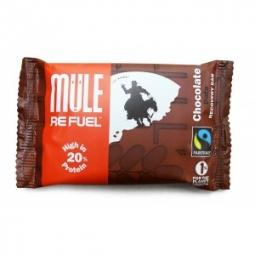 mulebar barre de recuperation hyper proteinee refuel chocolat datte 65g