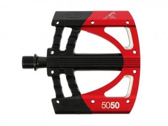 crankbrothers paire de pedales plates 5050 rouge noire