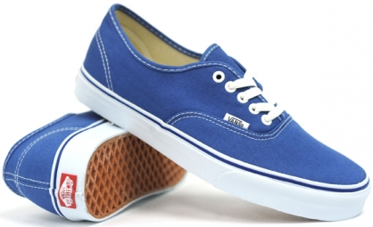 vans paire de chaussures authentic navy