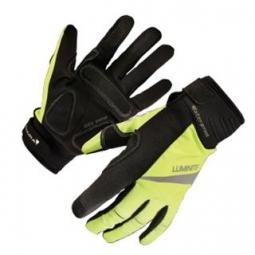 endura paire de gants luminite noir jaune fluo