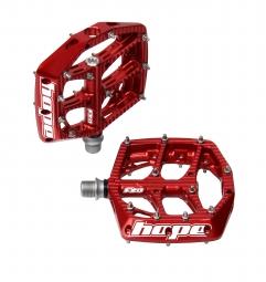 hope paire de pedales f20 rouge