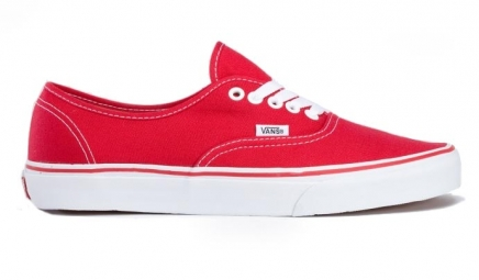 vans paire de chaussures authentic red