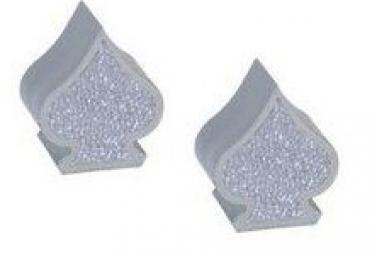 triktopz bouchons de valves x 2 pique chrome