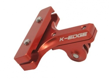 k edge support chariot de selle pour camera gopro rouge