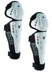 ixs genouilleres avec protege tibia hammer series blanc