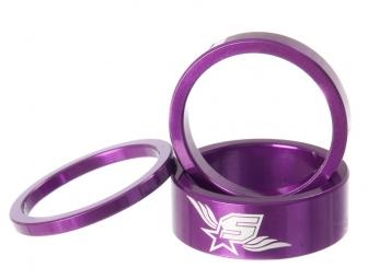 spank kit de 3 entretoises de direction tweet tweet 1 1 8 violet