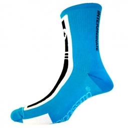 assos paire de chaussettes intermediatesocks s7 bleu calypso