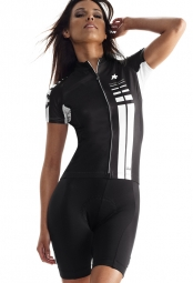 assos maillot manches courtes ss lady noir volkanga