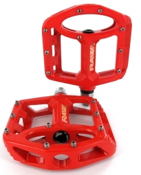 sb3 paire de pedales unicolor rouge