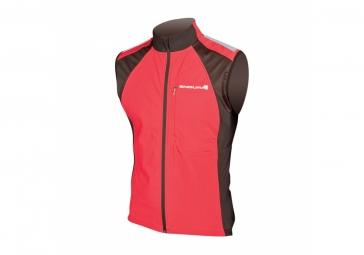 endura veste coupe vent sans manches windchill ii rouge