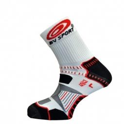 bv sport paire de soquettes bikesocks noir blanc rouge