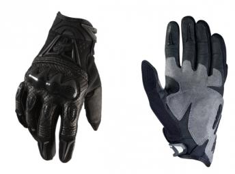 fox paire de gants bomber noir