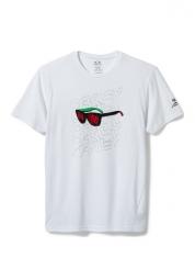 oakley tee shirt o frogskin blanc
