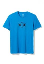oakley tee shirt o square bleu