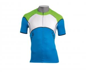 northwave maillot manches courtes blade bleu vert blanc