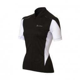 odlo maillot manches courtes femme action zip 1 2 noir blanc