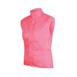 endura veste coupe vent femme pakagilet rose fluo