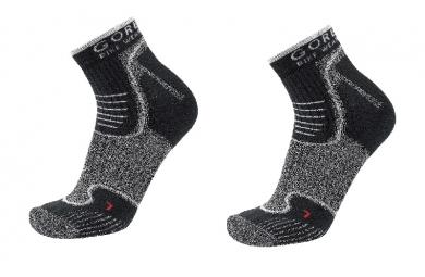 gore bike wear lot de 3 paires de chaussettes alp x noir blanc