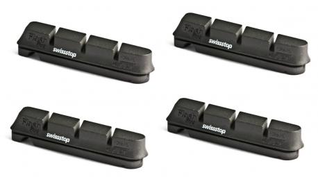 swissstop 2 paires de patins flash pro original black jantes alu shimano sram