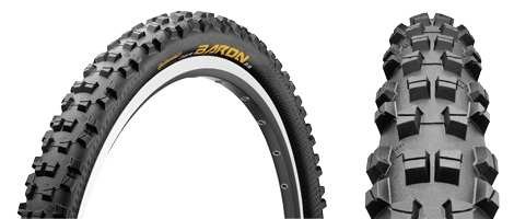 continental pneu der baron 26 rigide apex black chili tubetype