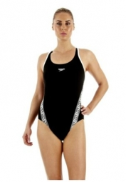 speedo maillot de bain femme monogram muscleback endurance noir