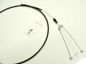 odyssey cable de frein quick slick short noir