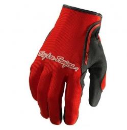 troy lee designs paire de gants longs xc rouge