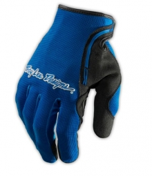 troy lee designs paire de gants longs xc bleu