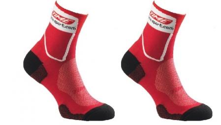 time paire de chaussettes ulteam max rouge blanc