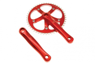 blb pedalier track 165mm 48 dents rouge