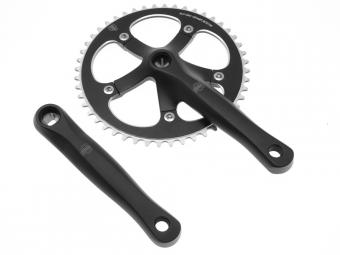 blb pedalier track manivelles 165 mm noir mat