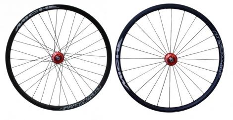 miche paire de roues pistard limited noir rouge
