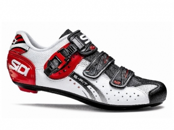 chaussures route sidi genius 5 fit carbon 2015 blanc rouge