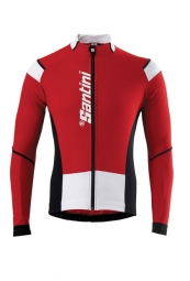 santini maillot manches longues activ air rouge