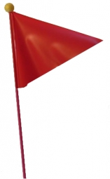 drapeau securite velo 1 60m fixation axe de roue