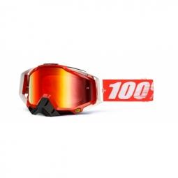 100 masque racecraft rouge ecran miroir rouge