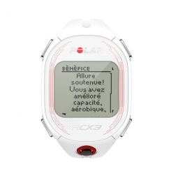 polar montre cardio rcx3 blanc