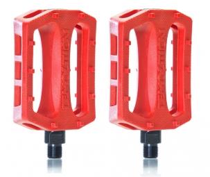 demolition pedales trooper plastique rouge