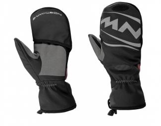 northwave paire de gants longs mouffle husky noir