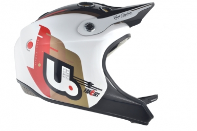 casque integral urge archi enduro blanc noir rouge