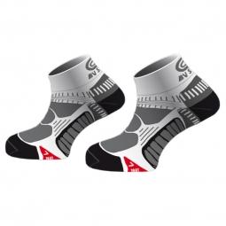 bv sport chaussettes running noir blanc
