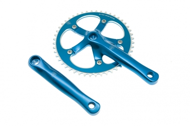 blb pedalier track 165mm 46 dents bleu