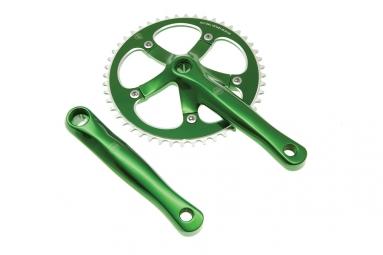 blb pedalier track 165mm 46 dents vert