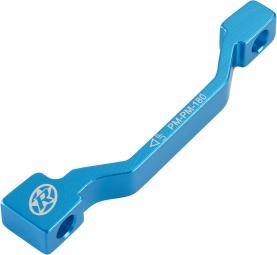reverse adaptateur frein pm pm 180mm bleu anodise