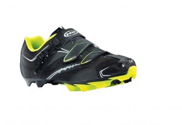 chaussures vtt northwave scorpius srs noir jaune fluo