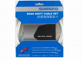 shimano kit cables et gaines derailleur dura ace 9000 blanc