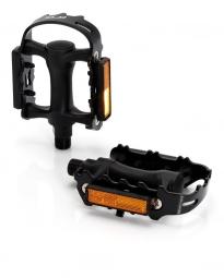 xlc paire de pedales mtb acier nylon classic